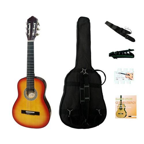 Klasikinė 1/4 gitara kairiarankiui su komplektu