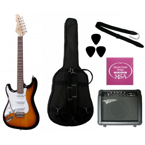 Elektrinė gitara ST5 SB kairiarankiui su komplektu GW25