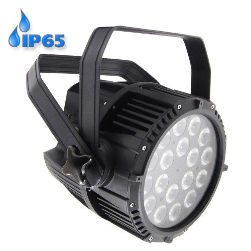 LED PAR 64 18x10W RGBW 4in1 IP65 PFC prožektorius