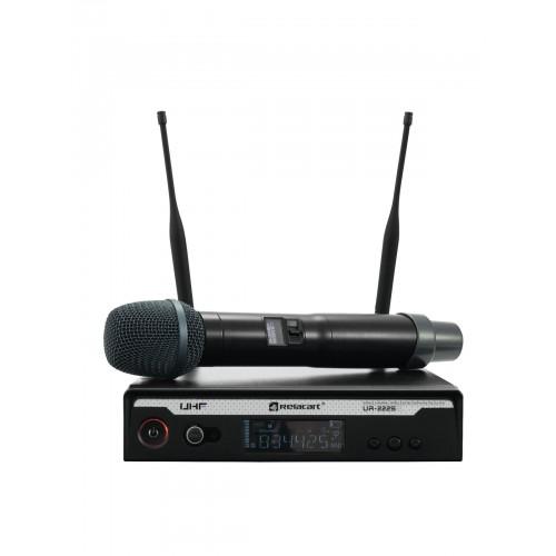 RELACART UR-222S 1-Channel UHF belaidžio rankinio mikrofono sistema