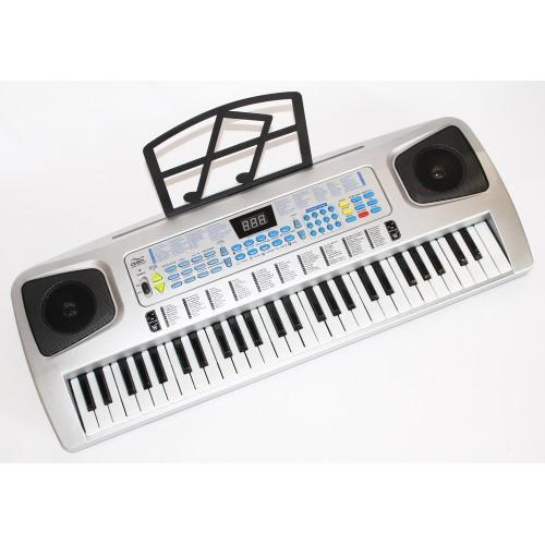 Vaikiškas klavišinis instrumentas su mikrofonu
