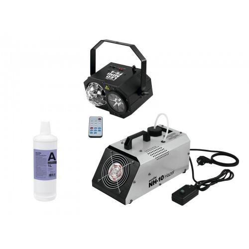EUROLITE Set LED Mini FE-4 ir NH-10 šviesos efektų rinkinys